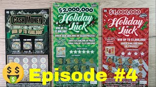 Episode 4 Playing $1 and 2 Million Holiday Luck - $500 Thousand Cash Money! Florida Scratch Off Game
