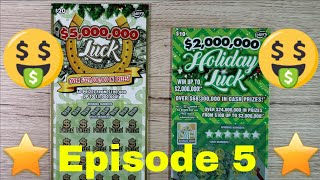 Episode 5 - Florida Holiday Luck Scratch OFF Tickets - $5 Million Luck - $2 Million Holiday Luck