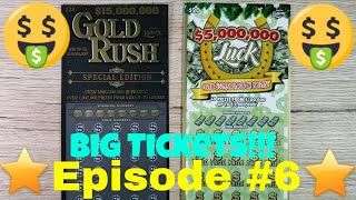 Episode 6 - BIG FLORIDA SCRATCH OFF TICKET - $15 million Gold Rush Special Edition - $5 Million Luck