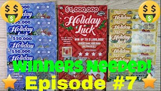 Episode 7 - FLORIDA LOTTERY SCRATCH OFF - $1 Holiday Luck - $2 Holiday Luck - $5 Holiday Luck - WIN?